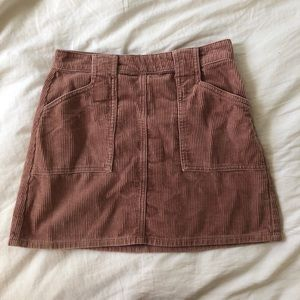 Kendall and Kylie Pink Corduroy Skirt